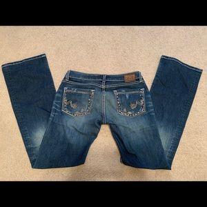 Buckle stretch jeans size 27 x 33.5